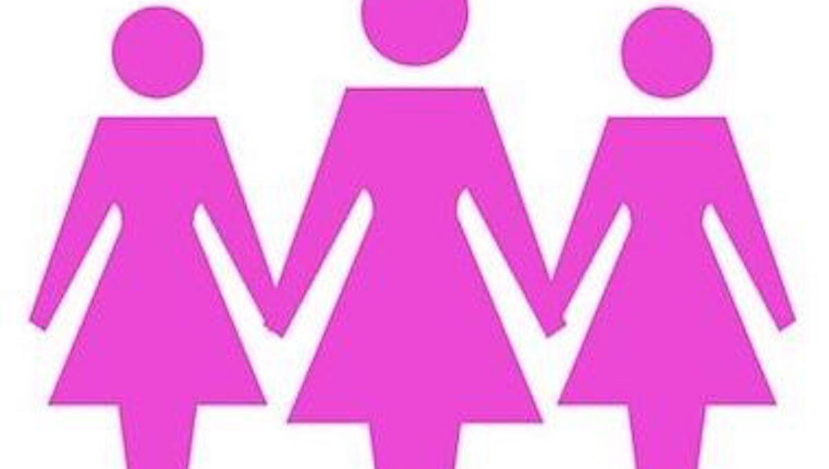 Figure stilizzate di tre donne in rosa che si tengono per mano by thewealthyspoon, rappresentano la sindrome dell'ovaio policistico una patologia che la Nutrizionista Dott.ssa Paola Proietti Cesaretti può aiutare a mitigare