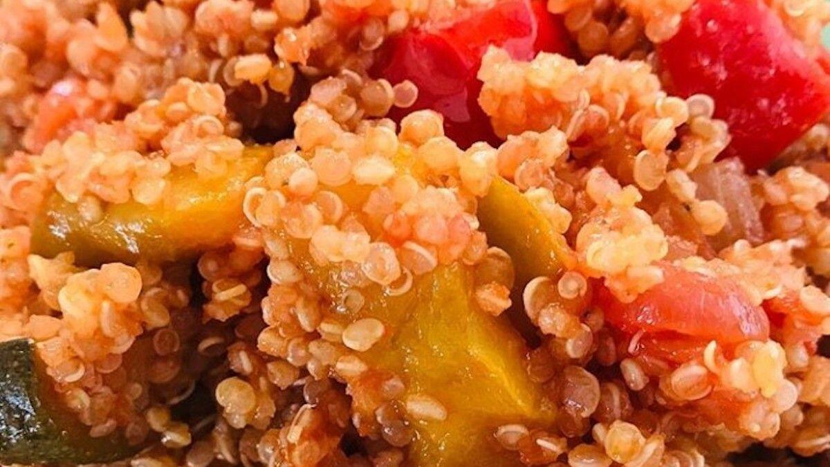 """Quinoa salad, chopped tomatoes and zucchini, """"gluten-free"""" proposal by the Nutritionist Dr. Paola Proietti Cesaretti by thewealthyspoon"""