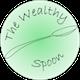 Logo del sito thewealthyspoon della Nutrizionista Dott.ssa Paola Proietti Cesaretti raffigurante un cucchiaio all'interno di un circolo verde
